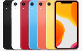 Category image of the different colour variations of iPhone iPhone XR