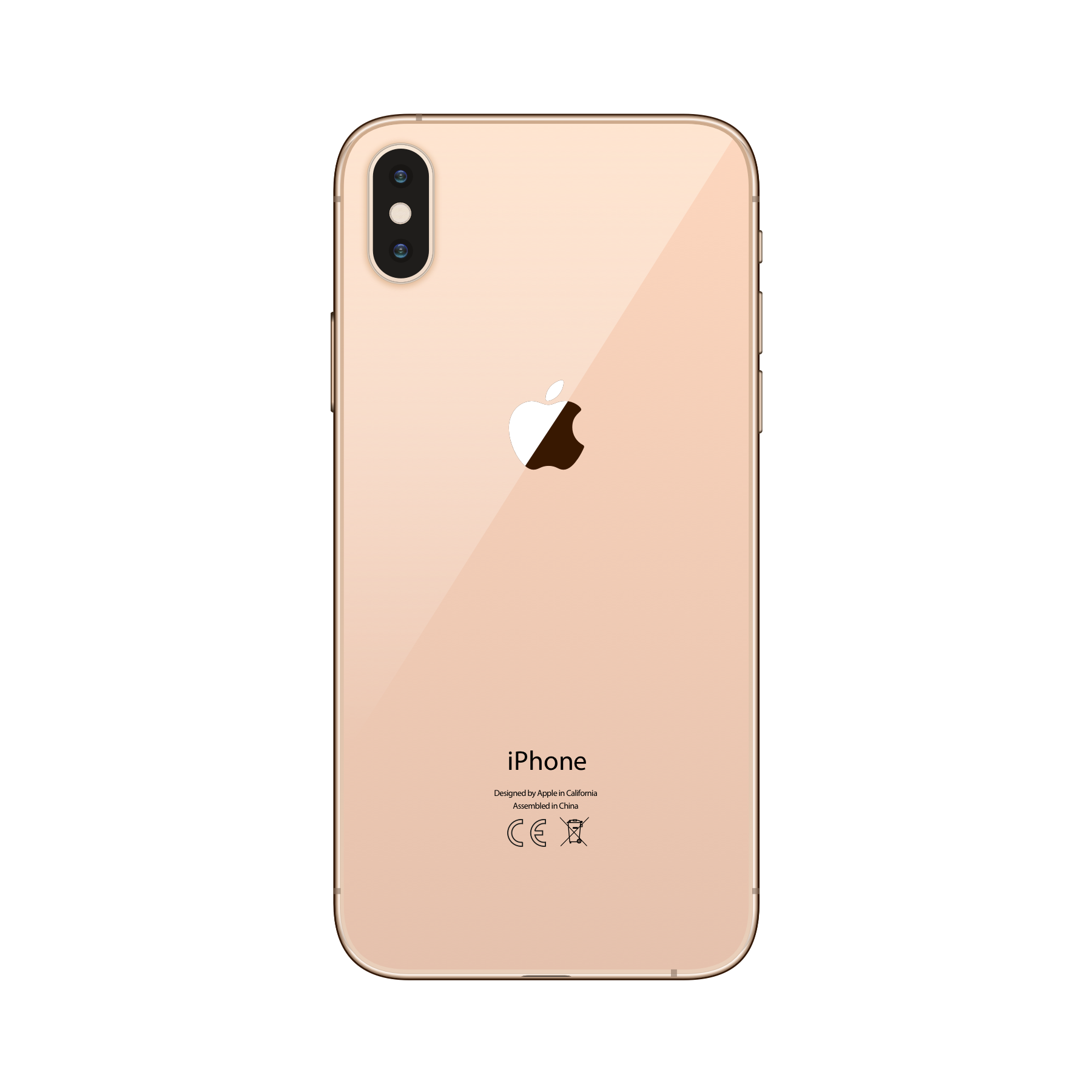 iPhone XS 256GB Gold - Back image