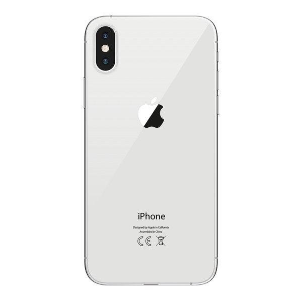 iPhone X 64GB Silver - Back image